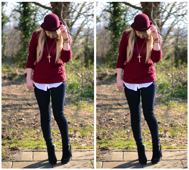lorna-burford-burgundy-black-hat-outfit