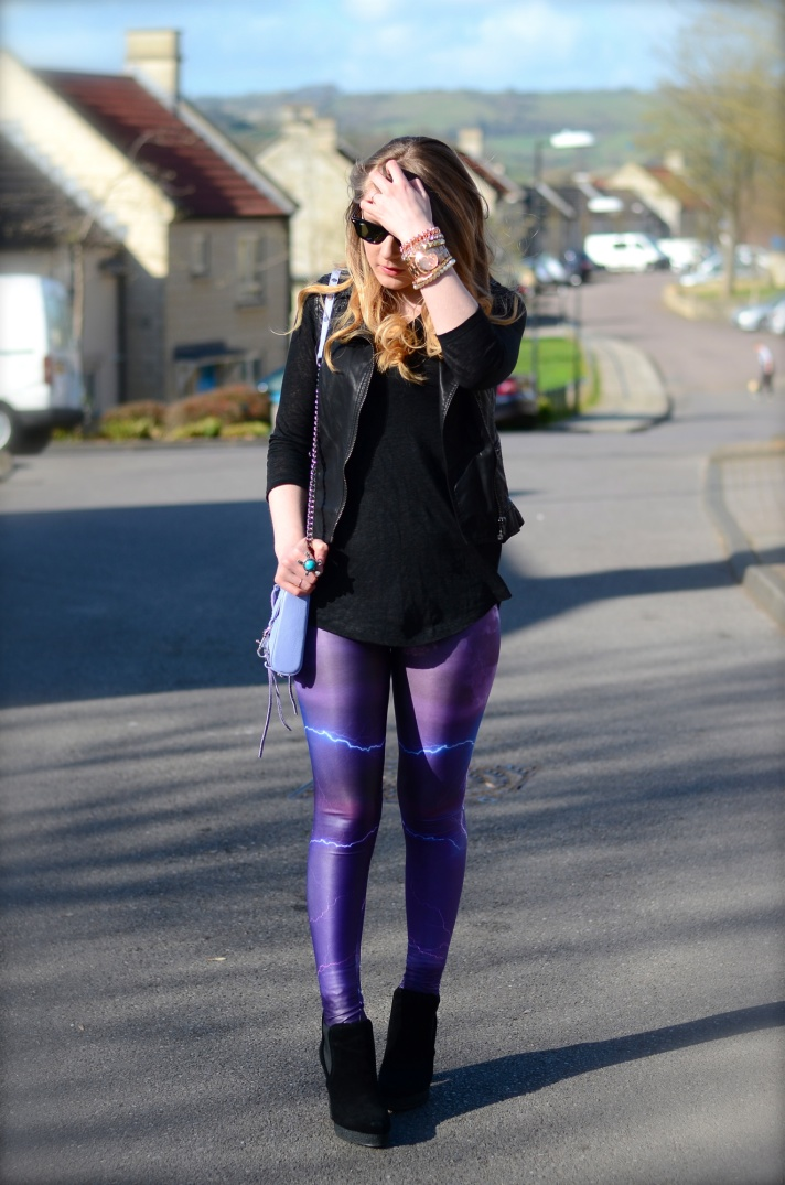 lorna burford lightning leggings Purple Lightning Storm Leggings