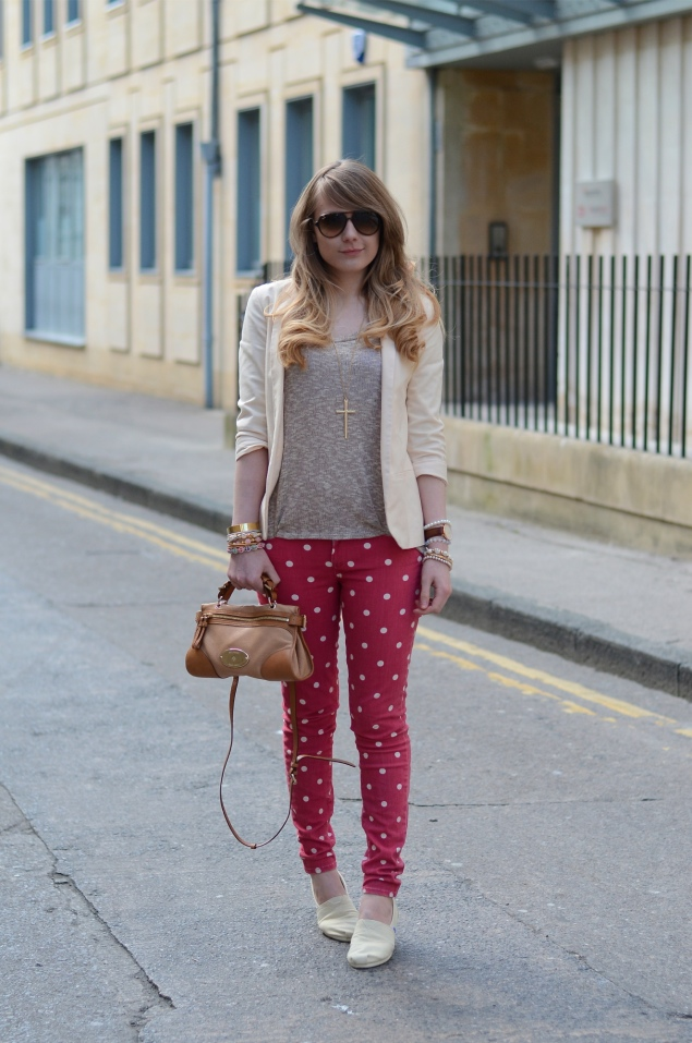 lorna burford polka dot jeans blazer Polka Dots And Cream