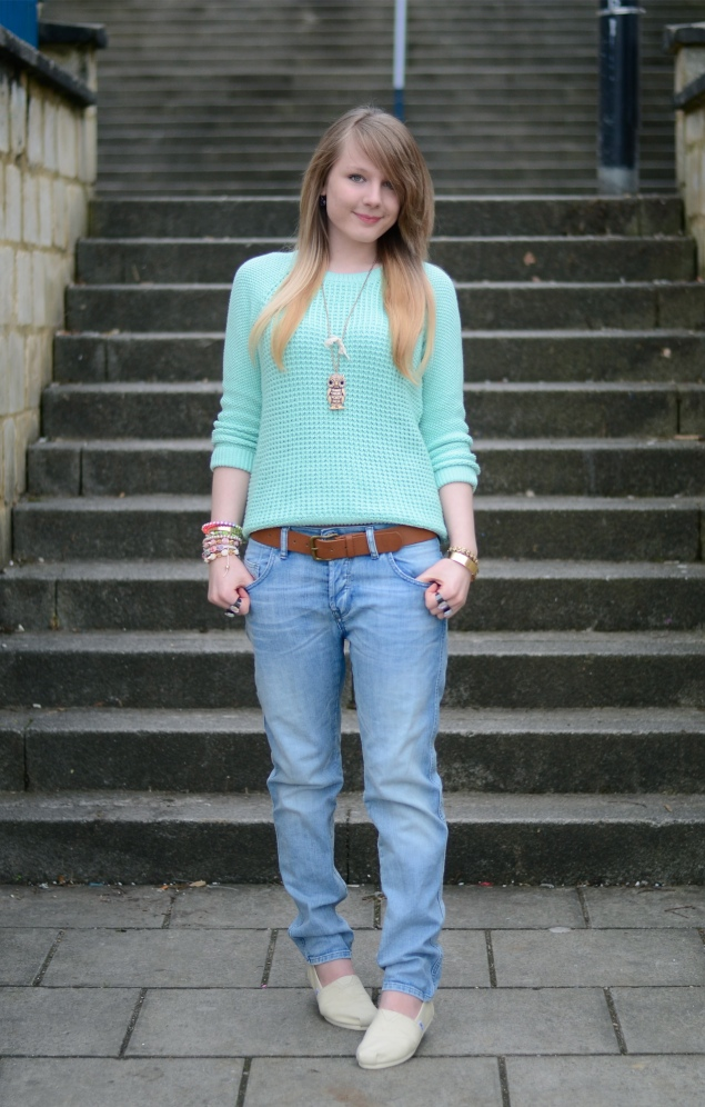 mint jumper sweater jeans Casual Sundays