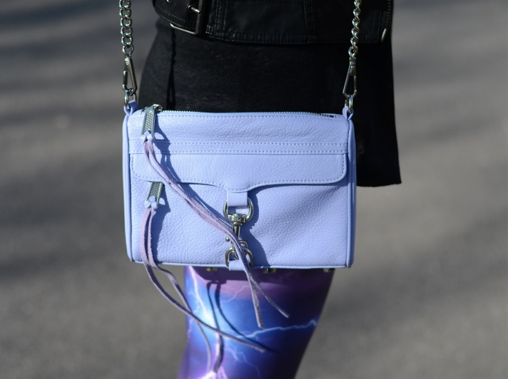 rebecca minkoff mini mac lilac Purple Lightning Storm Leggings