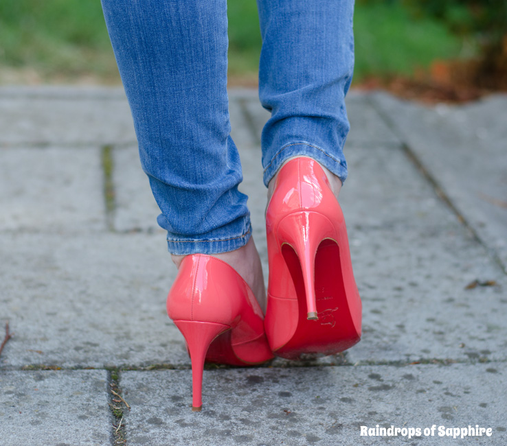 hot pink lou boutins pronounce sparkly blue christian louboutins