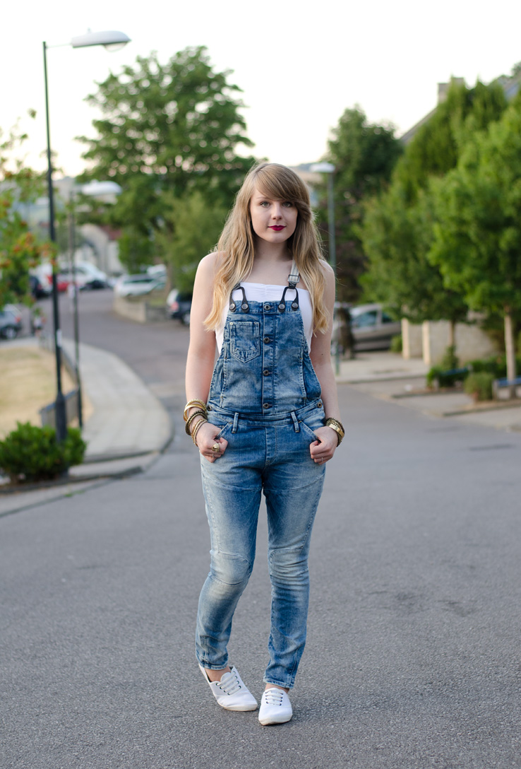 G-Star Denim Dungarees Overalls Outfit | Raindrops of Sapphire