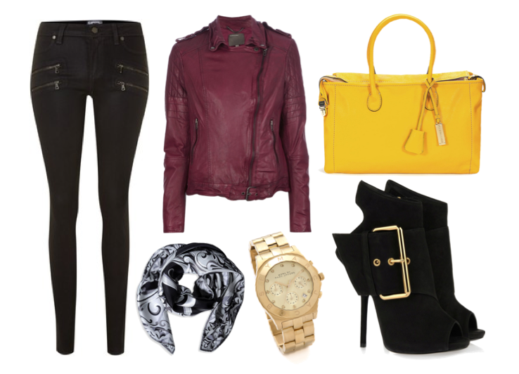 Burgundy Black Mustard Autumn Fashion Style Inspiration Raindrops Of Sapphire
