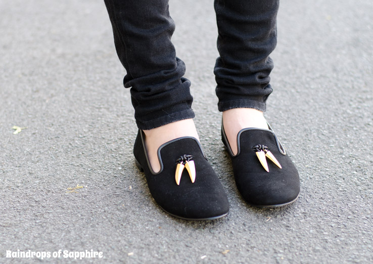 giuseppe zanotti black gold tooth slippers loafers Gone Away With The Metallic Unicorns