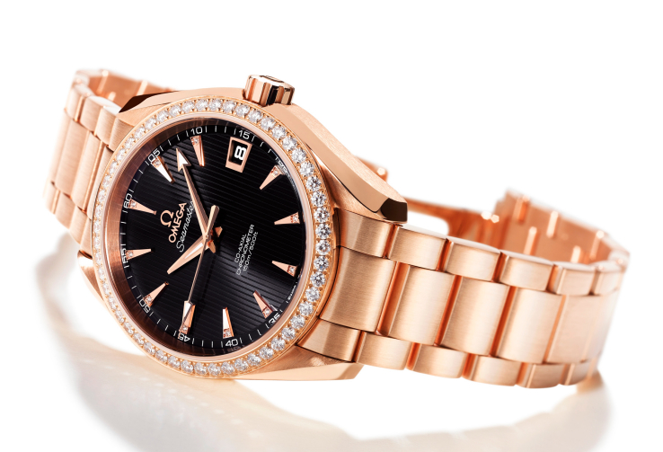 omega seamaster aqua terra rose gold diamonds My Love For Rose Gold Watches   Save Or Crave