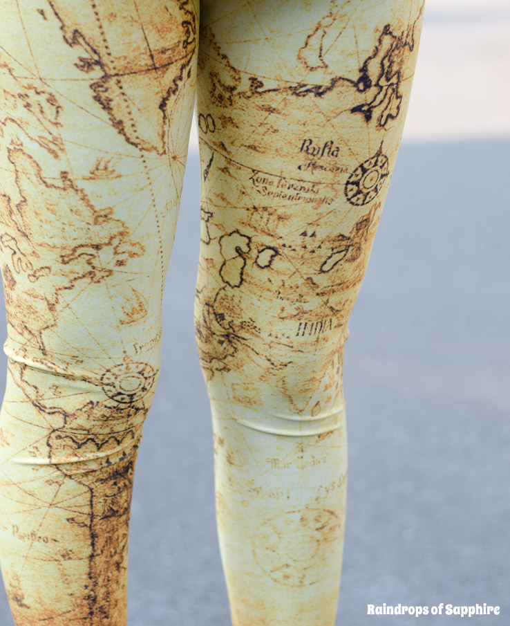 romwe-map-yellow-leggings
