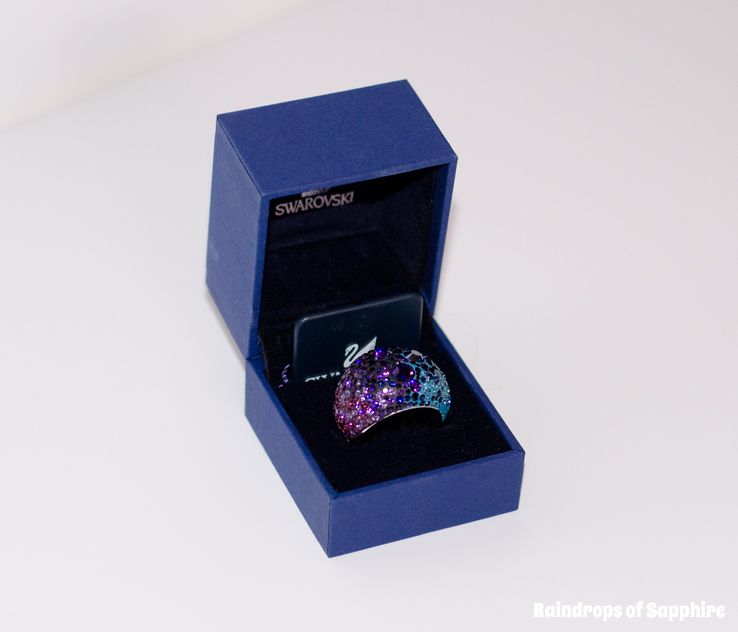 swarovski chic blue purple ring 2 My New Swarovski Chic Purple Blue Ring