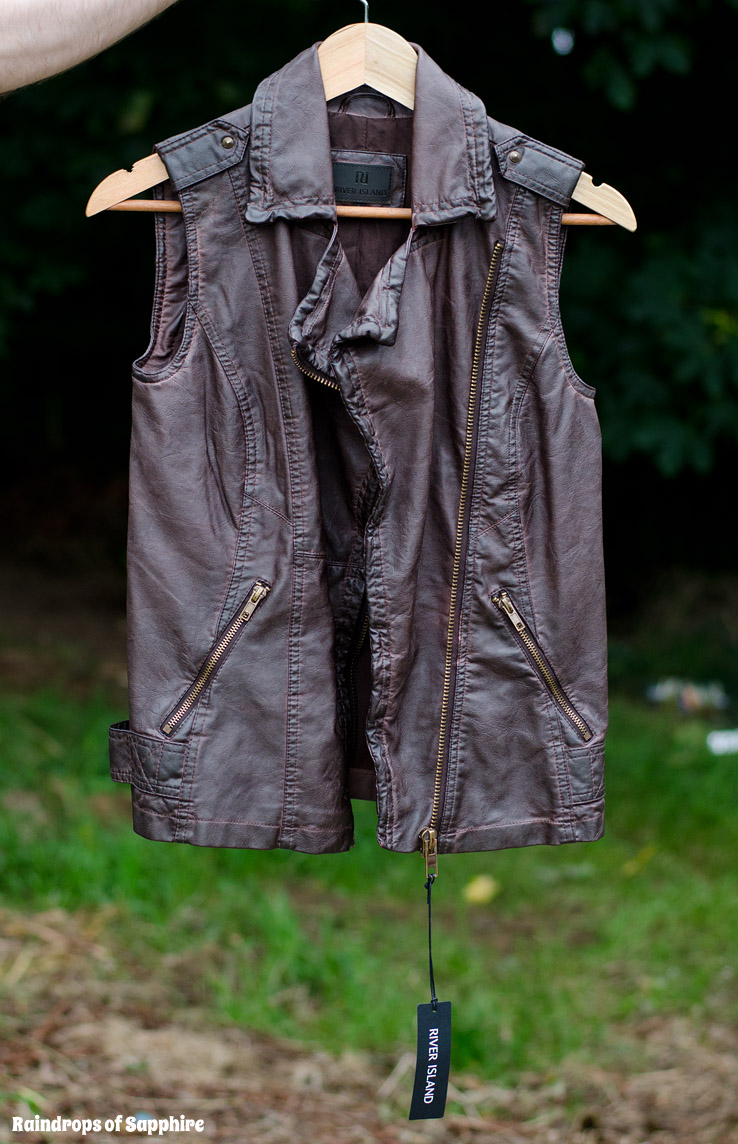 River-Island-Brown-Leather-Gilet