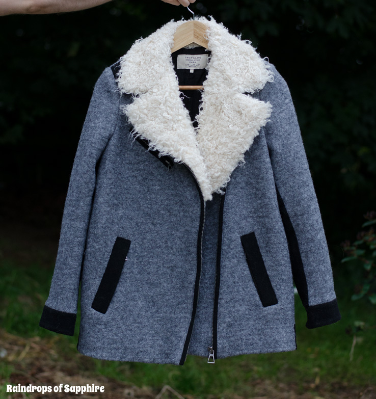 Zara grey black wool coat jacket Some New Autumn Clothes & Accessories Purchases