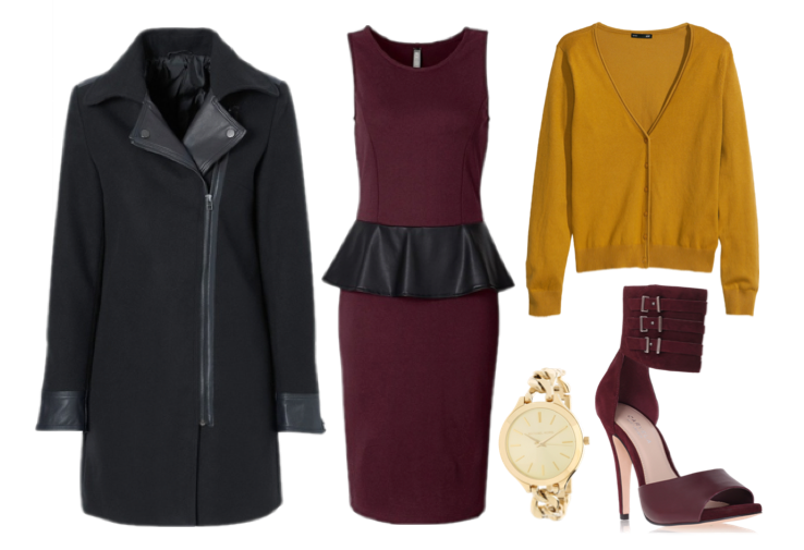 autumn-outfit-inspiration-bonprix-coat-peplum-burgundy-dress