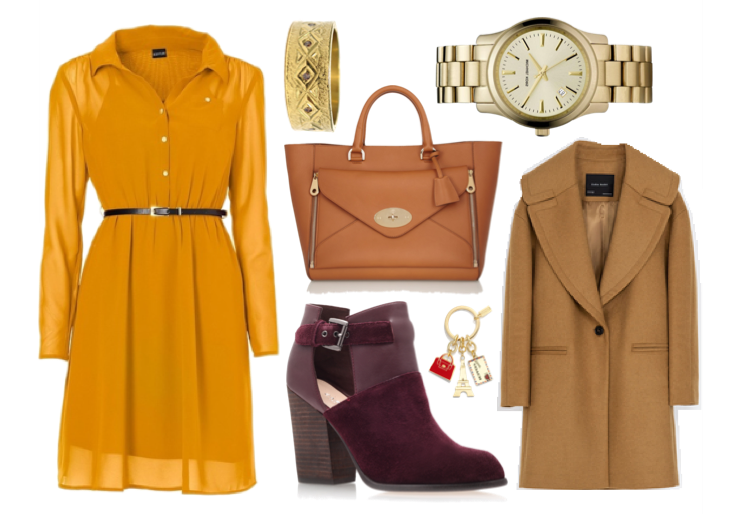 autumn-outfit-inspiration-yellow-bonprix-dress-zara-coat-burgundy-kurt-geiger-boots