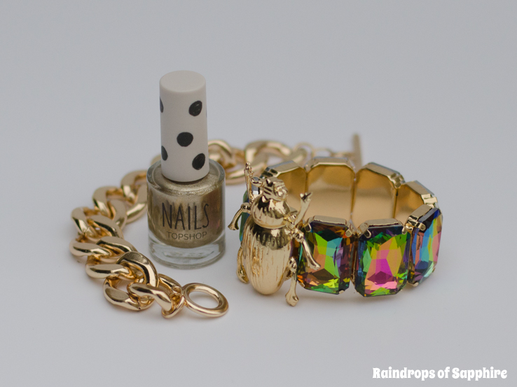 gold bracelets nail polish topshop river island Some New Autumn Clothes & Accessories Purchases