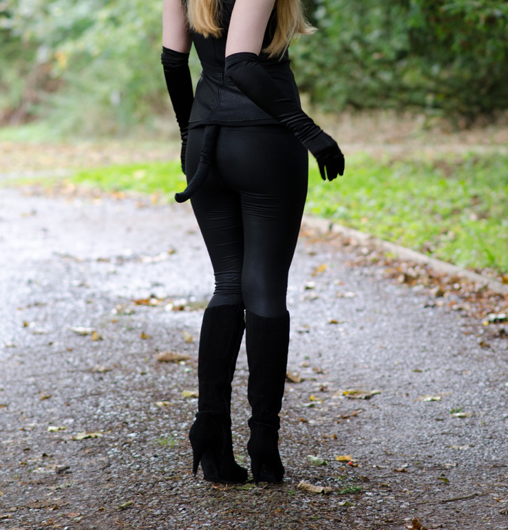 lorna-burford-black-cat-costume-outfit-back