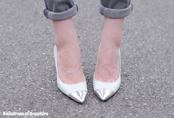 topshop-mint-metallic-shoes