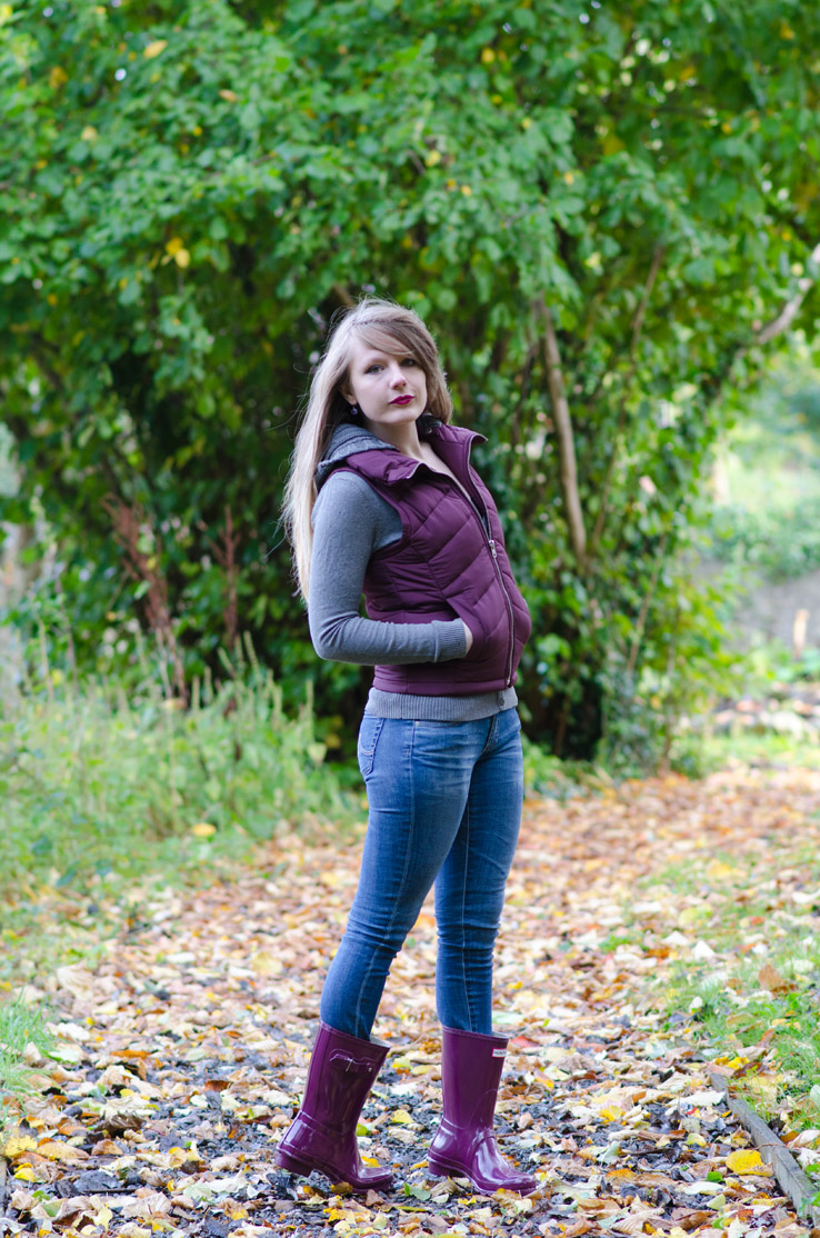 burgundy-topshop-gilet-ag-jeans-hunter-ruby-wellies