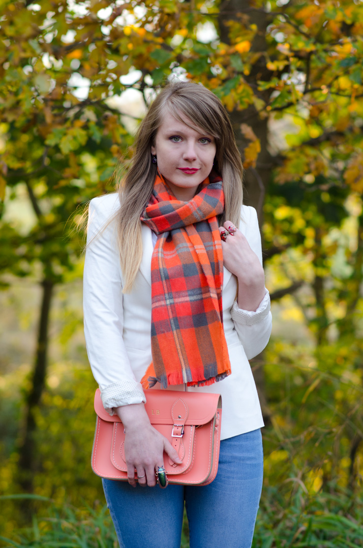 lorna-burford-orange-scarf-plaid
