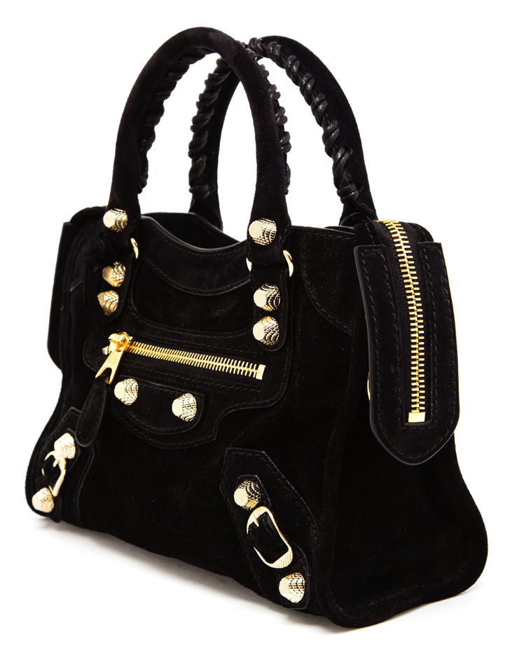 balenciaga-baby-daim-giant-mini-city-black-suede-gold
