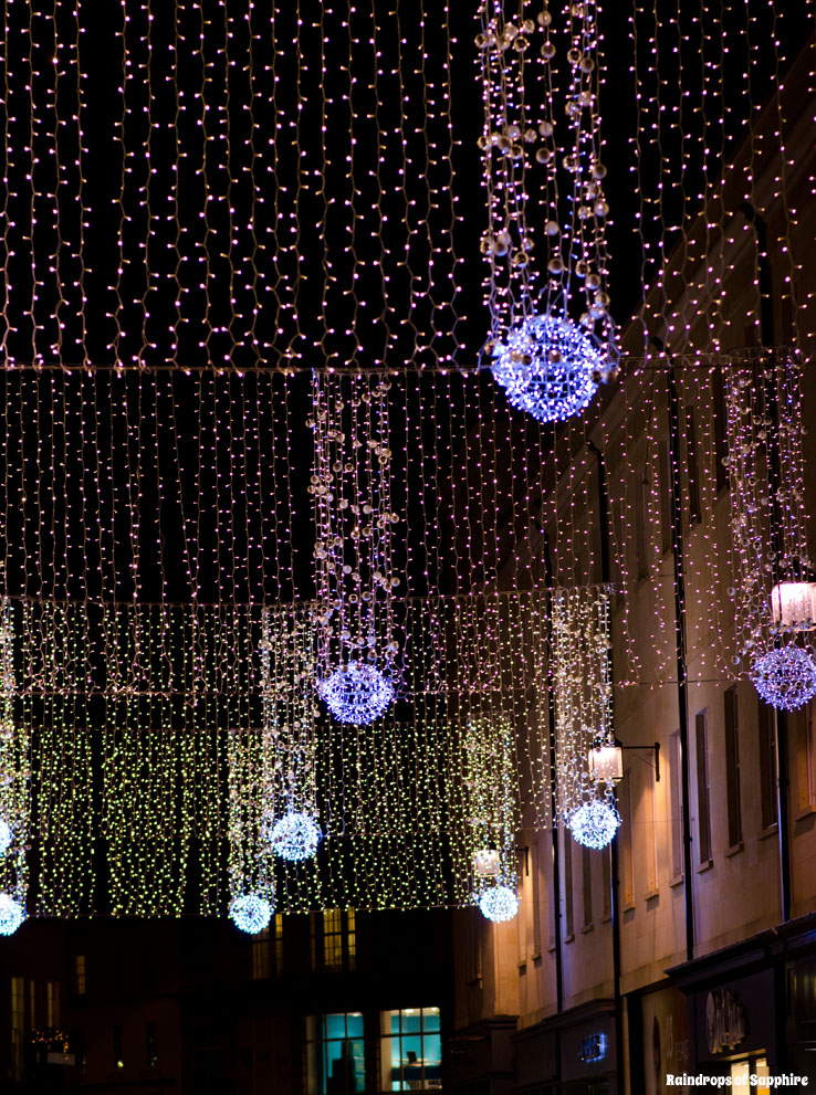 Christmas Lights Trees Decorations In The City Of Bath