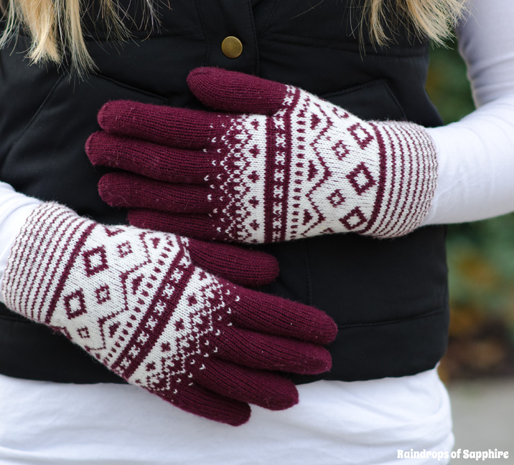 urban-outfitters-fair-isle-burgundy-gloves