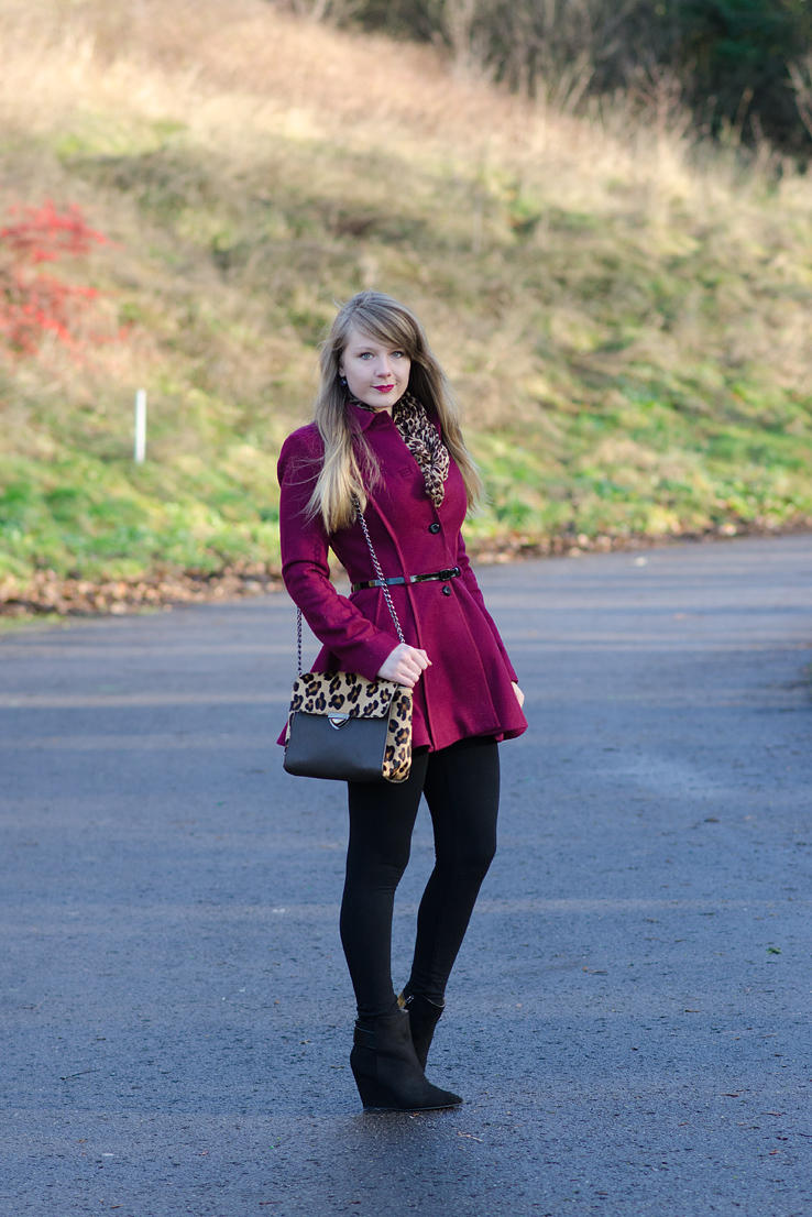 raindrops-of-sapphire-lorna-burford-burgundy-princess-coat-leopard-bag