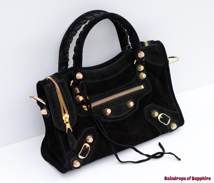 My New Balenciaga Mini City Baby Diam Bag In Black Suede