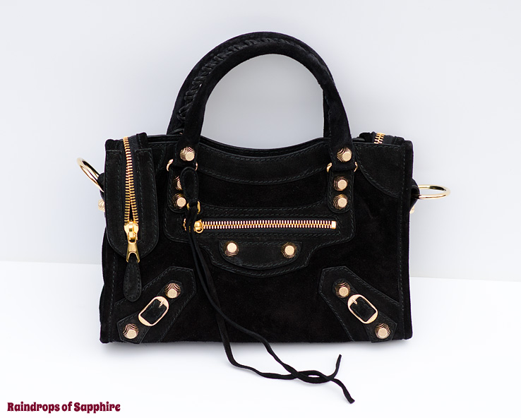 balenciaga-mini-city-black-suede-bag