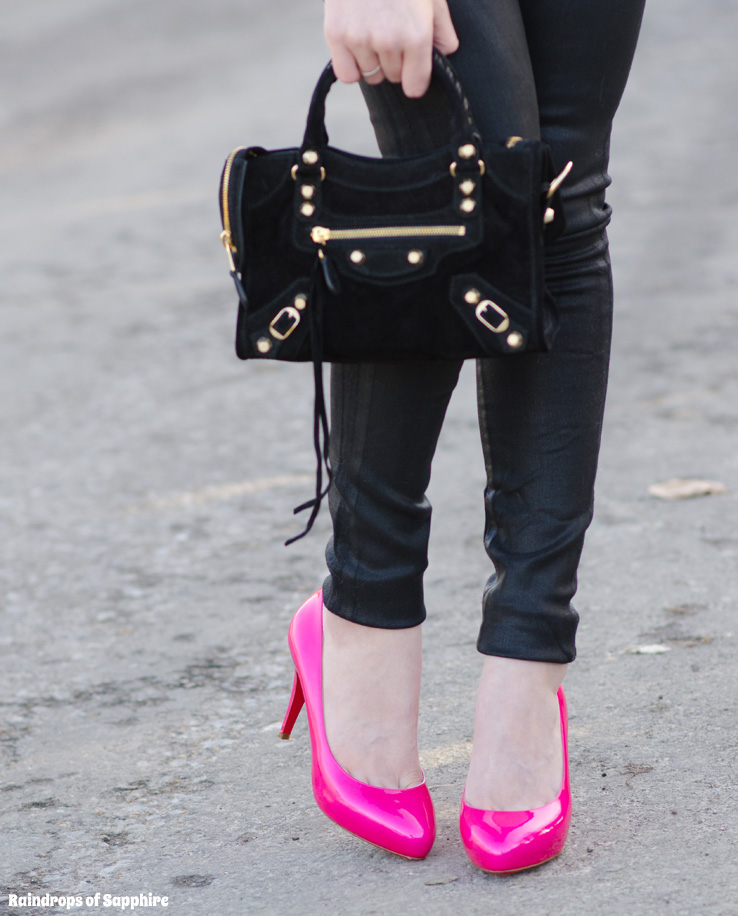 christian-louboutin-declic-90-pink-balenciaga-mini-city-black