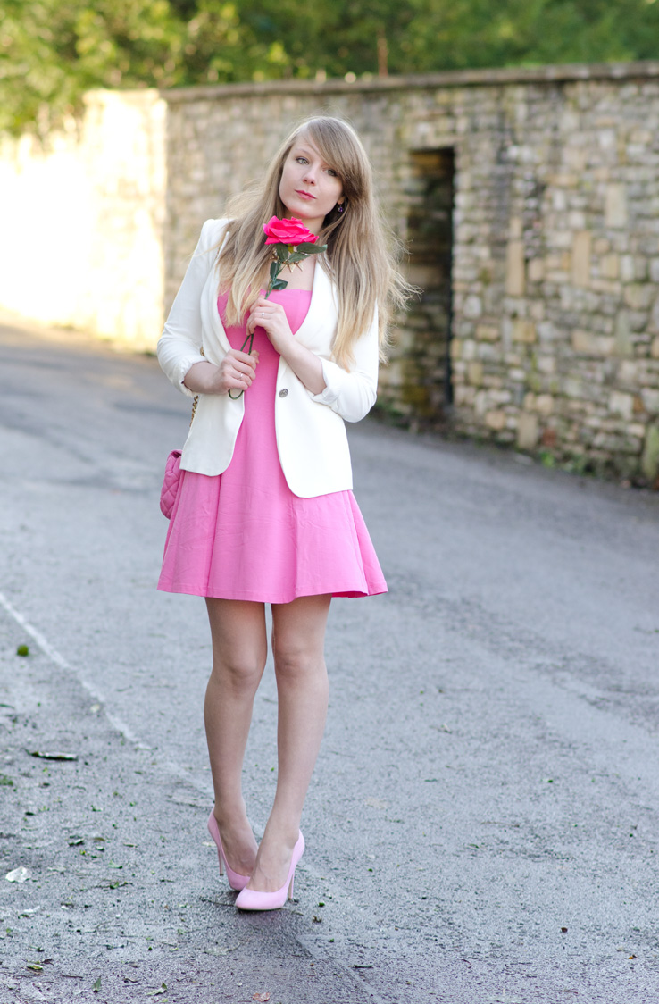 lorna burford pink dress valentines outfit Valentines Day In Romantic Pink