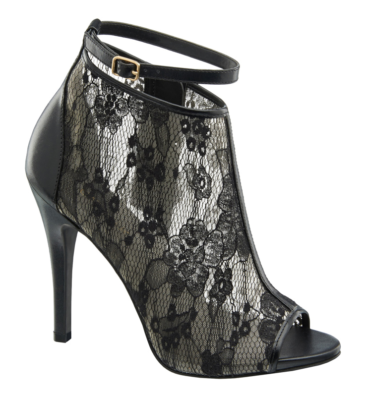 1 290 602, Peep toe lace shoe boot  with ankle strap, ú27.99 (Caroline Blomst)