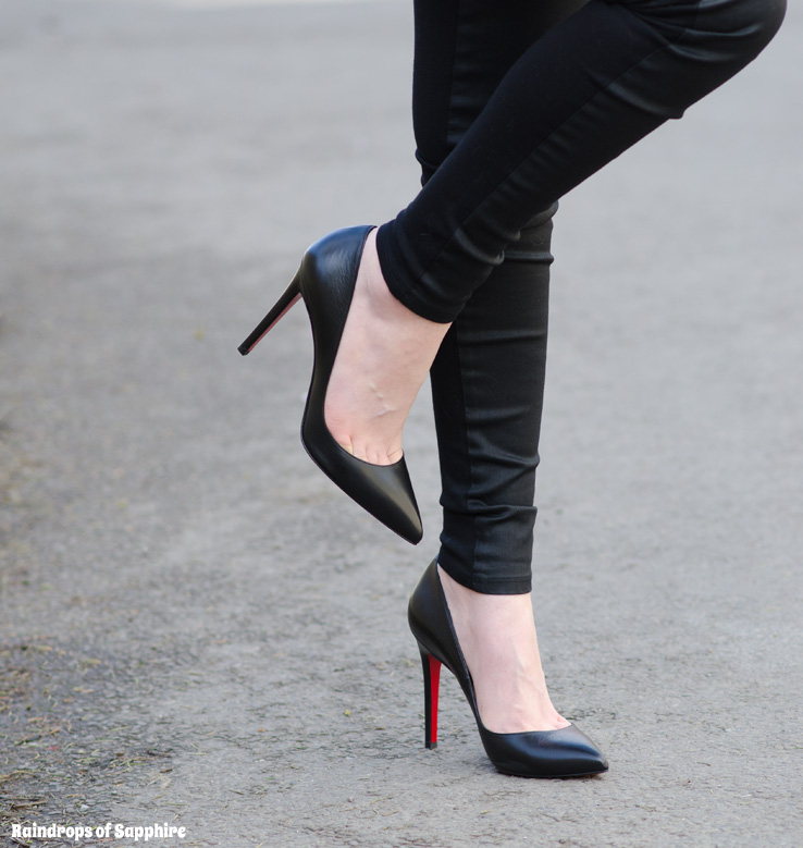 christian louboutin 85mm black