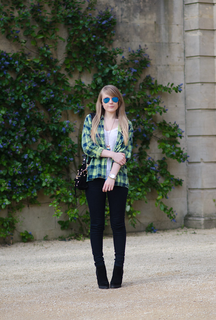 lorna burford uk bath fashion blogger The Oversized Green Plaid Shirt