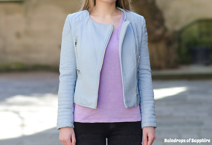 zara-pale-pastel-baby-blue-leather-jacket – Raindrops of Sapphire