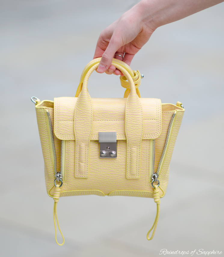 3.1 phillip lim mini pashli pollen buff yellow Pastel Blue & Pollen Buff