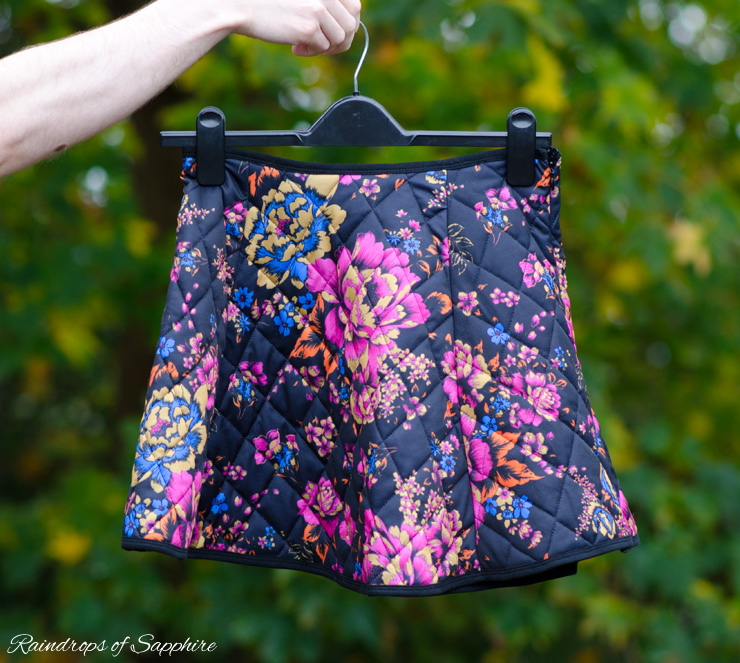 asos floral padded skirt New Autumn Purchases   Part 2