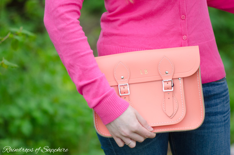 cambridge satchel honeysuckle embossed orange Drip, Drip, Drip Little April Showers