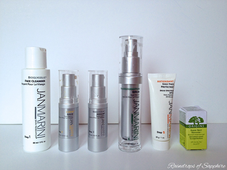 jan marini face system 5 steps My Skin Care Routine: Jan Marini, Liz Earle & Origins