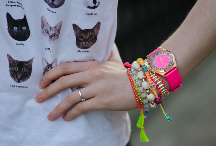 marc by marc jacobs henry skelton pink watch arm candy The Cat Face Tee by Tea & Cake