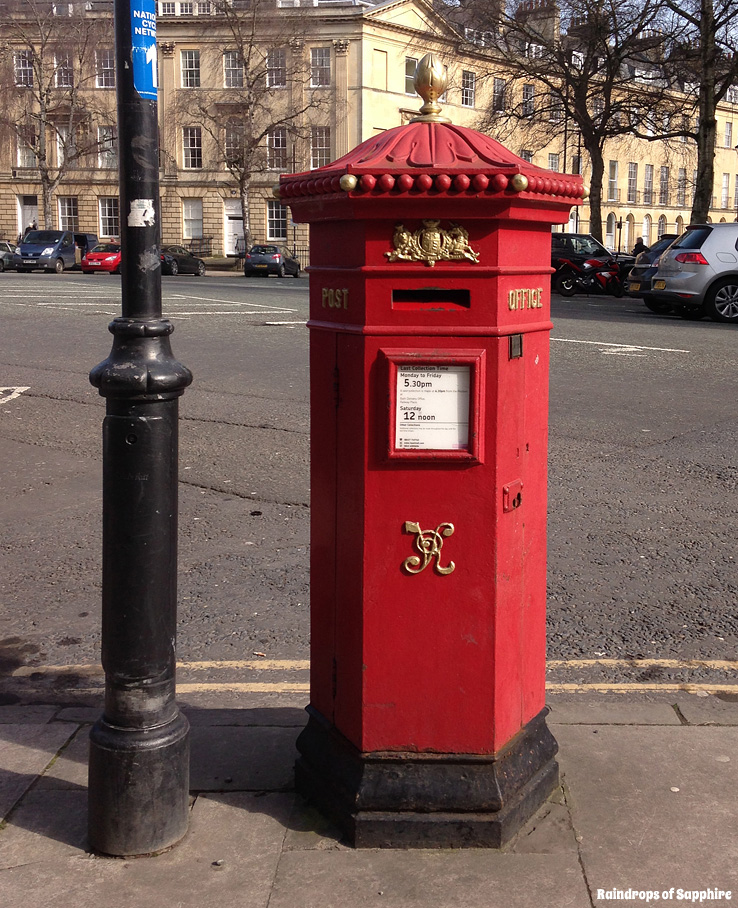 raindrops-of-sapphire-red-post-box
