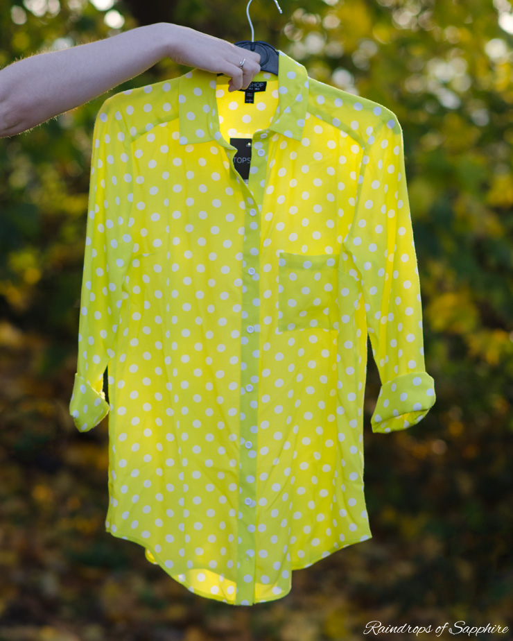 topshop yellow polka dot shirt New Autumn Purchases   Part 2