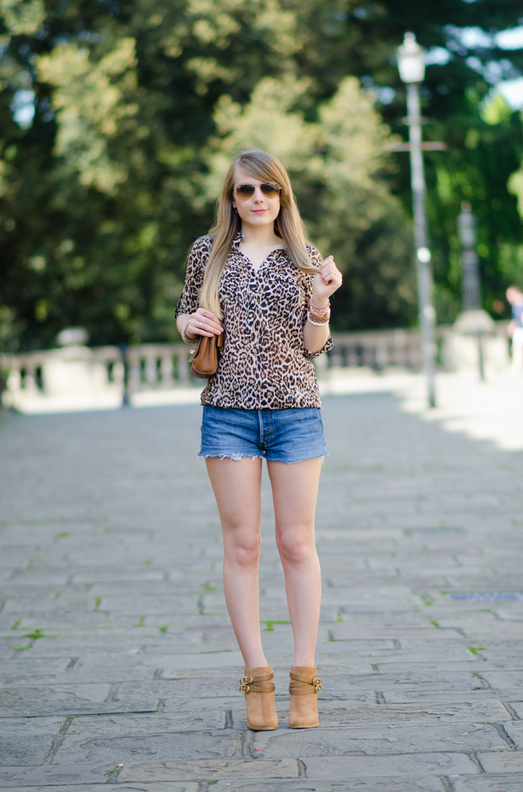 lorna burford denim shorts Leopard With Denim Shorts & Jimmy Choos