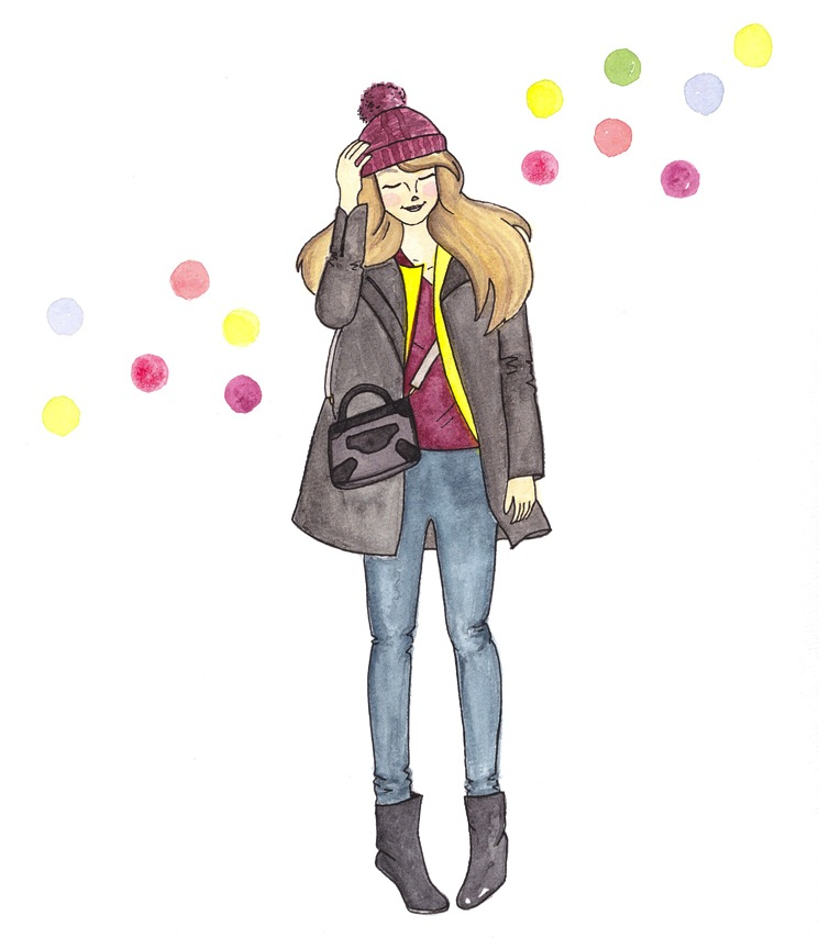 Lorna raindrops drawing illustration cropped I Have Been Fashion Illustrated Again!
