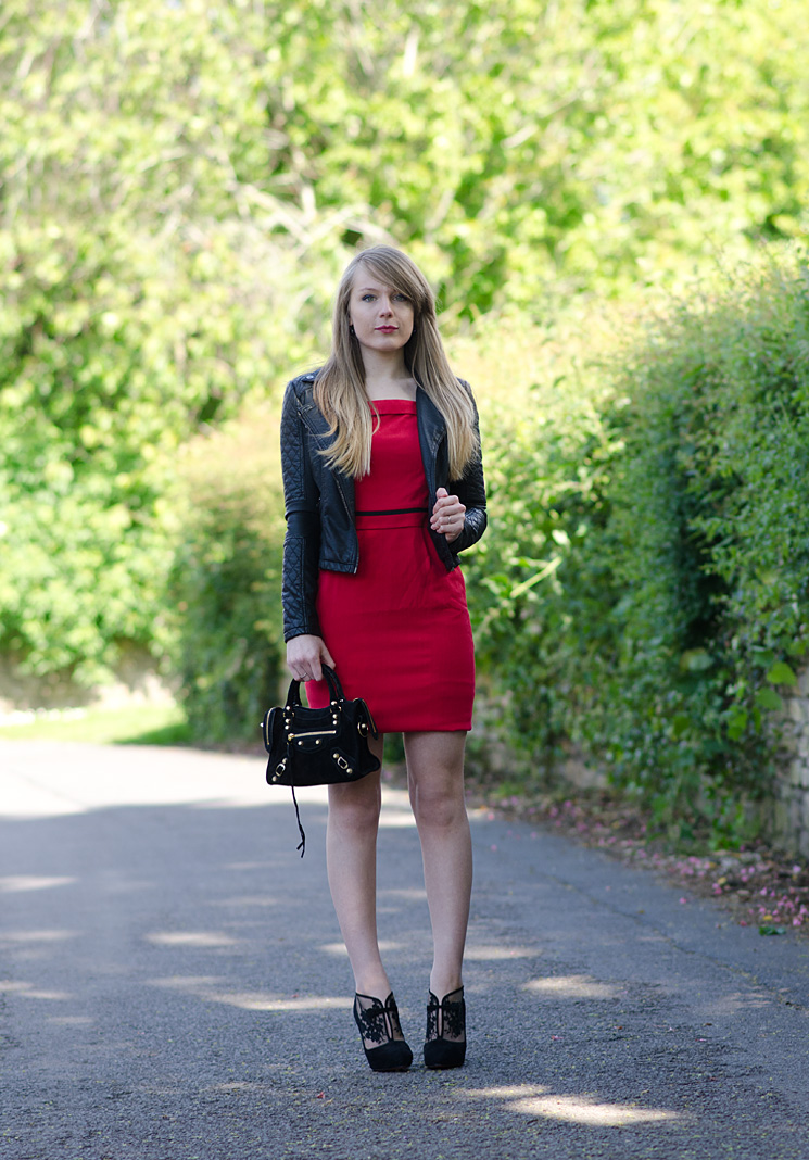 lorna-burford-red-vintage-dress-black-leather-jacket