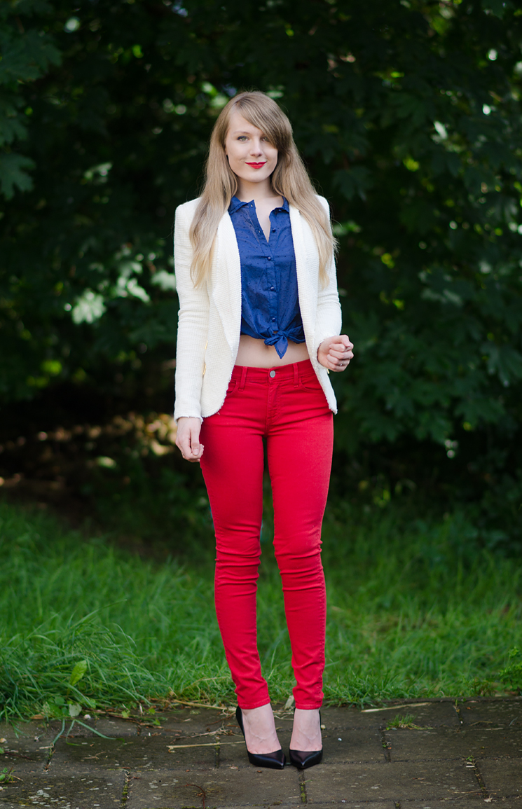 4th of July - Red White u0026 Blue Inspired Denim Outfit | Raindrops of Sapphire