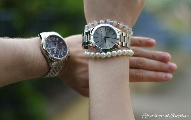 michael kors his hers watches Michael Kors Chronograph Watch Styled As His And Hers