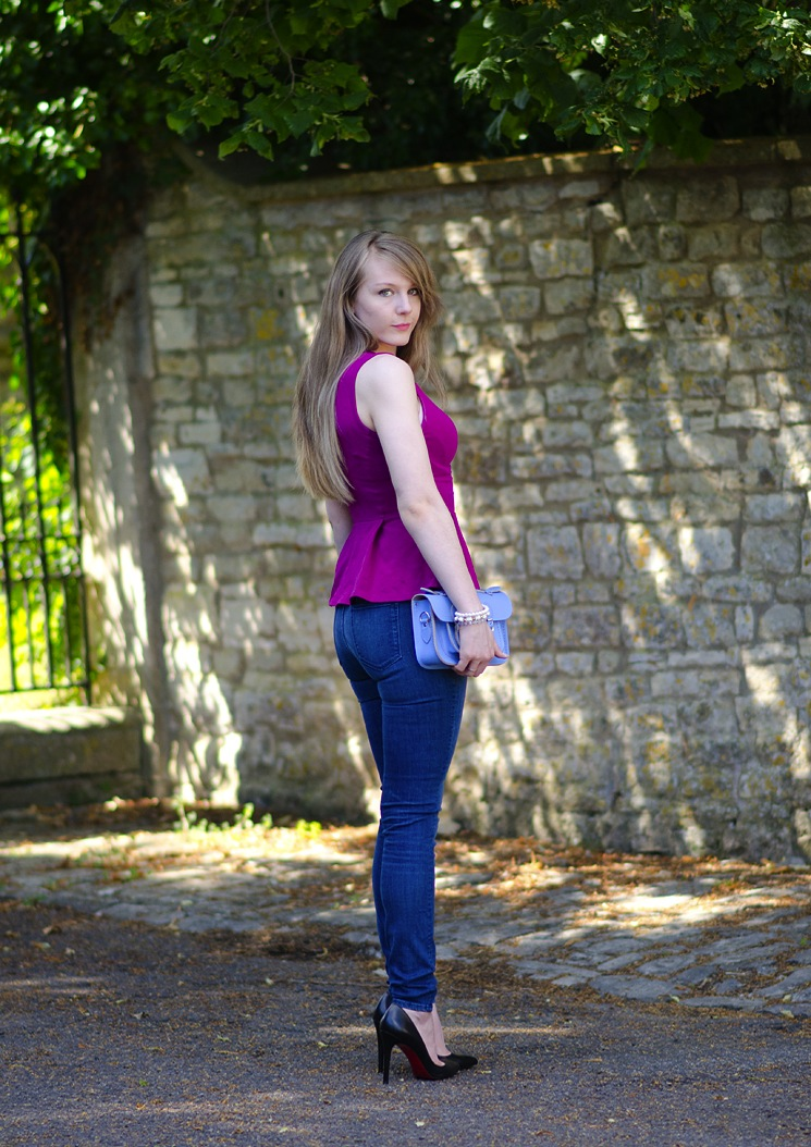 uk fashion blogger bath lorna burford raindrops of sapphire Magenta Purple With Bellflower Blue