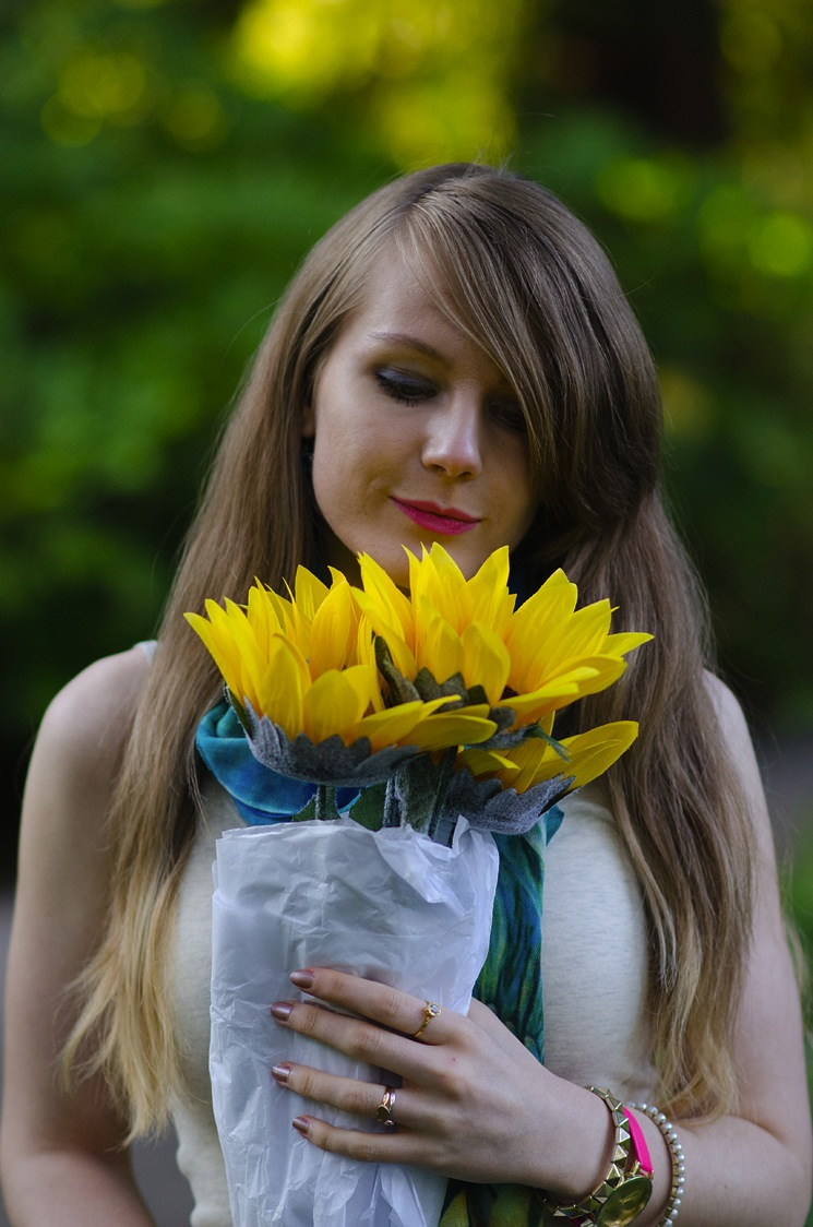 girl-with-flowers-sunflowers-lorna-burford