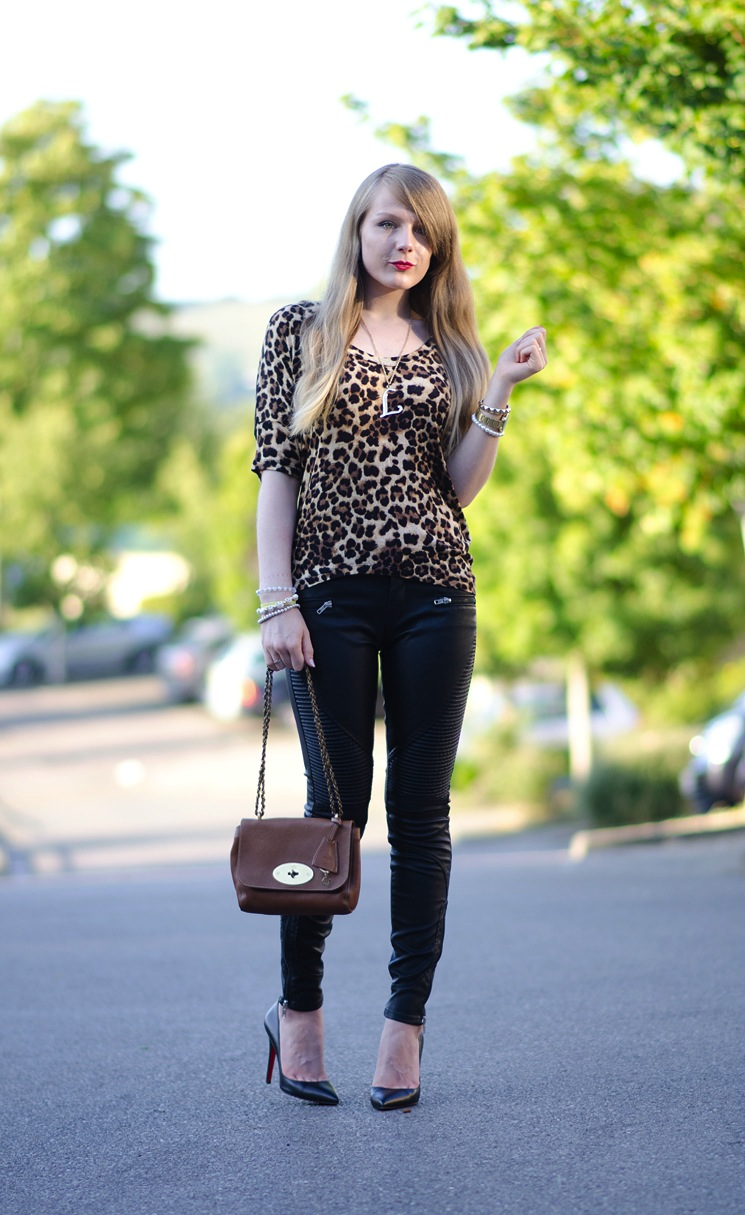 lorna-burford-raindrops-of-sapphire-black-leather-pants-jeans-leopard-top