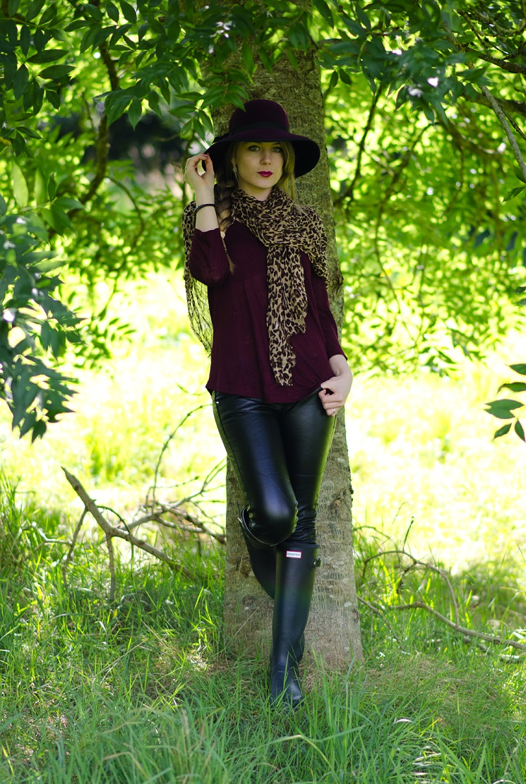 Leather Pants With Black Wellies