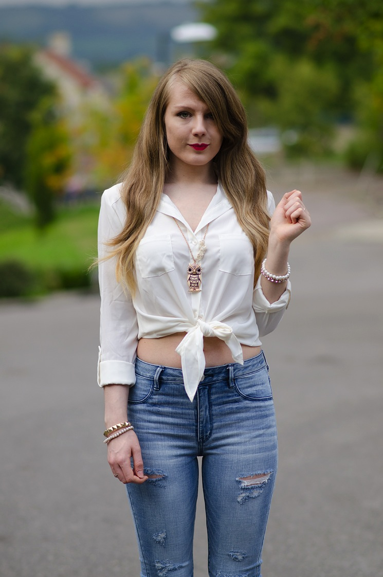 lorna burford fashion blogger raindrops of sapphire The American Eagle Sky High Jeggings